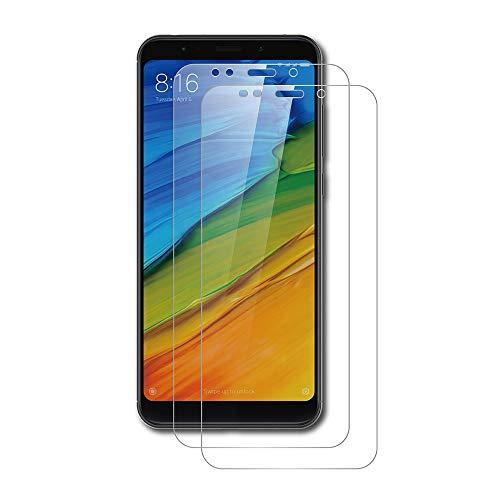 AICEK [2 Stück] Xiaomi Redmi Note 5 Schutzfolie, Tempered Glass Displayschutzfolie für Xiaomi Redmi Note 5 Schutzglas Screen Protector Gehärtetem Glas Klar Displayschutz Redmi Note 5 Panzerglas 5 Klar Screen Protector