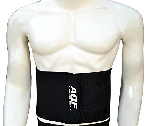 AQF verstellbar Slimming Gürtel beschleunigt Gewicht Verlust und ab Toning Body Shaper Gewicht Verlust Fett Brenner Unisex, schwarz (Brenner Ab Gürtel)