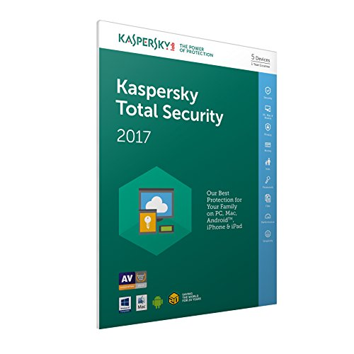 Kaspersky Total Security 2017 5 Devices 1 Year - Frustration Free Packaging