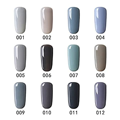 Elite99 Vernis Semi Permanent Lot de Vernis Gris Gel UV