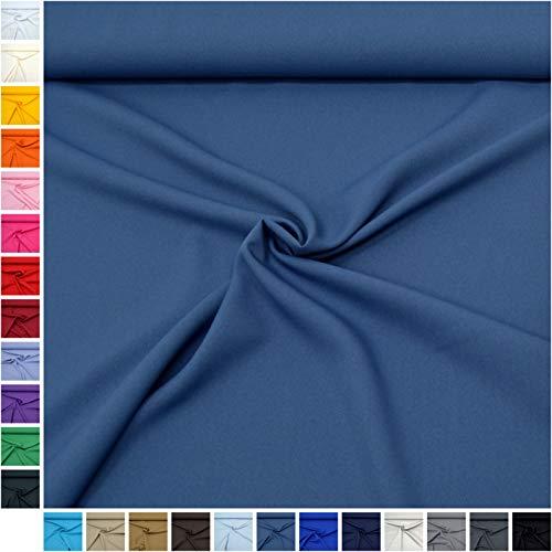 MAGAM-Stoffe Mara Allround Stoff Blickdicht Knitterarm Kostüm Tischdecken Dekostoff (18. Jeans-Blau) (Jersey Mädchen Kostüm)