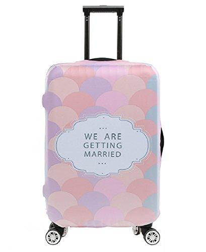 Elástico Funda Protectora de Maleta Viajar Protector De Equipaje Funda De Maleta Luggage Cover, Romance (L)