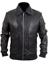 "Celebrita X Brosnan Leather Pierce High Quality Jacket CX105 Sheep Black L - For Chest 42""-44"""