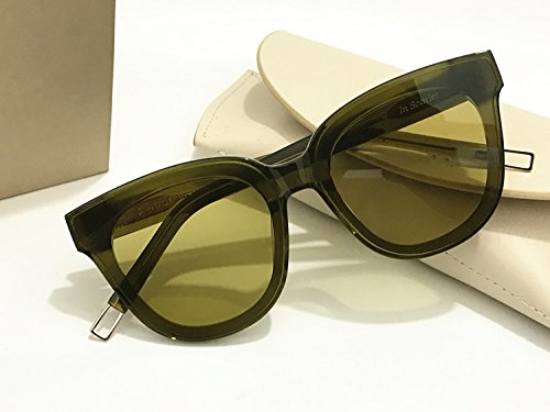 Lunettes de Soleil Polarisées Wayfarer New Gentle man or Women Monster eyeware V brand EYE EYE 033 sunglasses for Gentle monster sunglasses -Leopard frame green lensess xdcAL0AWP