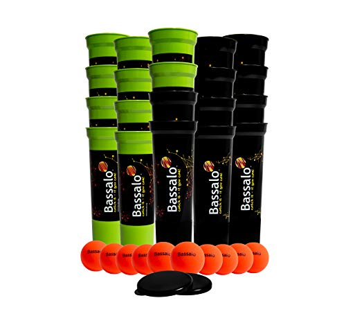 BASSALO Cupball 20er Schul-Set - Sportspiel für Kinder und Jugendliche – 20 Becher, 10 Bälle, inklusive Spielmagazin