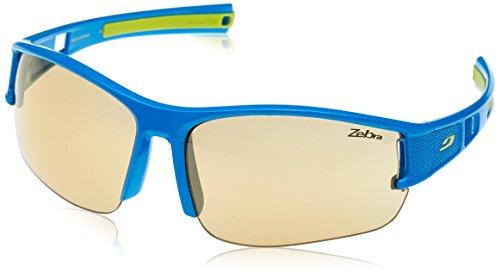 Julbo Eole Zebra Sonnenbrille photochromiques Herren, Blau/Gelb
