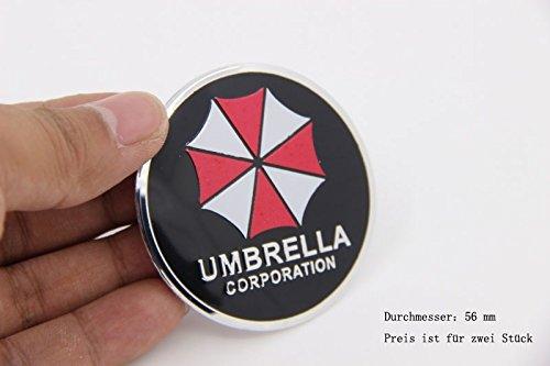R274 Umbrella Corporation 2 stück Felgendeckel schwarz 3D Emblem mobil Auto Aufkleber Nabendeckel Radkappen Nabenkappen 56 - Nabendeckel Jeep Schwarz