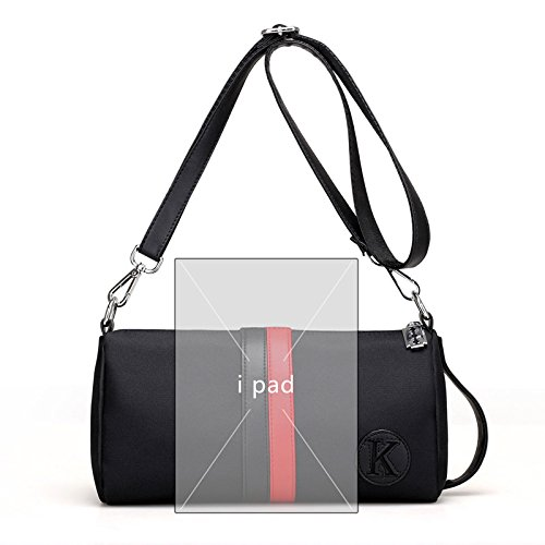 HT Women's Cross-Body Bags, Borsa a tracolla donna Black and Red