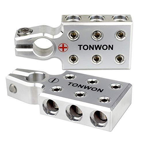 Connettore del Terminale della Batteria, TONWON 6x1/0 AWG Terminali Batteria al Piombo per Morsetto Superiore Rastremato