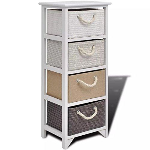 Fzyhfa vidax mobiletto contenitore con 4 cassetti in legno design unico, comodo, confortevole e bello, robusto e resistente. cassapanca contenitore cassapanca da interno