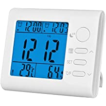 Thermomètres, Hygromètres Et Sabliers, Chenci Multi-fonction Thermomètre Hygromètre Intérieur Affichage de Date et Température et Humidité Rétro-éclairage Affichage de Date et Température et Humidité