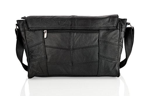 Woodland Leather , Borsa Messenger  marrone Brown Black