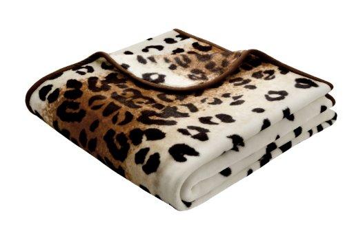 bocasa by biederlack 444-078 biederlackborbo 39992 De Luxe, Leopard mehrfarbig circa 180 x 220 cm 85% Polyacryl, 15% Polyester - Luxe Leopard