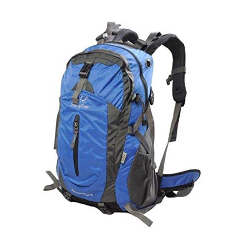 LF&F Backpack Camping outdoor Zaini Borse 40 l di zaino da montagna escursionismo zaino da equitazione maschio e femmina con copertura a pioggia zaino multiuso e solido e durevole blue 40L blue