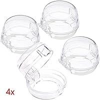 Offgridtec pa-009695Kinde rische Rung pour Cuisinière Four pour boutons, 4pièces, transparent