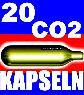 20 Stück Bierkapseln 16g Bier CO2 Kapseln Patrone für BierMaxx Zapfprofi