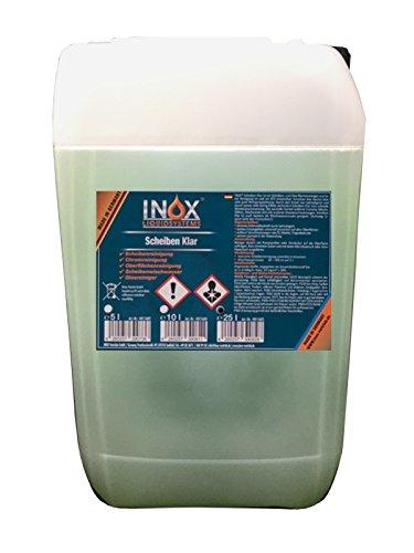 INOX Scheiben Klar Scheibenreiniger Konzentrat, 25L - Glasreiniger für Autoscheiben