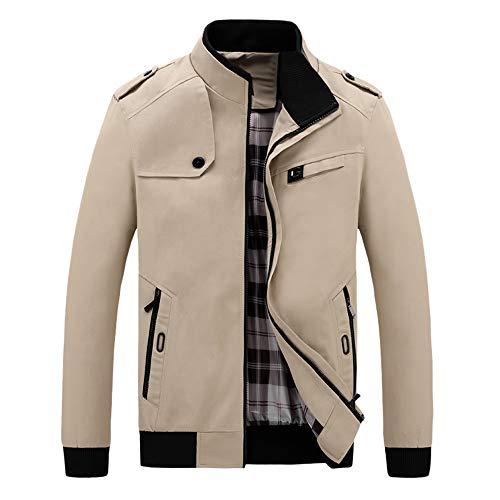 ADESHOP Herren Pullover, Herbst/Winter, lässig, langärmelig, Solider Reißverschluss, Werkzeugjacke, Top Bluse
