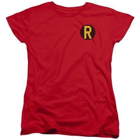 Batman DC Comics supereroe Robin costume R–T-shirt da donna con logo rosso Red M