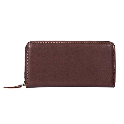 Zhuhaitf Multifunktion Zipper Long Brieftasche für Herren Damen RFID Blocking Card Holder Money Clip Purse Veranstalter (Damen-scheckheft Brieftasche)