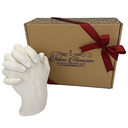 Adore Memories Kit de moulage, mains adultes entrelacées - Souvenir, cadeau d'anniversaire, moulage à la main