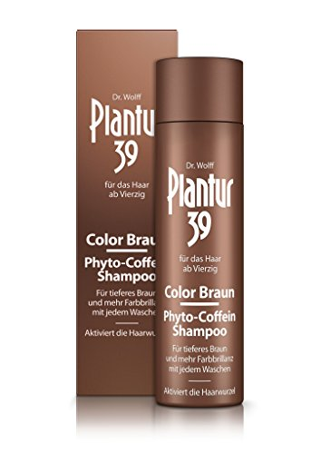 Plantur 39 Color Braun Phyto-Coffein-Shampoo, 1 x 250 ml - Für tieferes Braun bei jedem Waschen, Gegen menopausalen Haarausfall