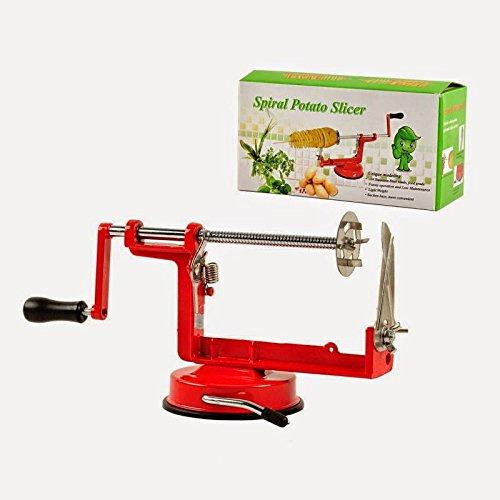 Genius Factory®Manual de patatas fritas Twister Tornado Rebanadora freír verduras Espiral Cortador máquina