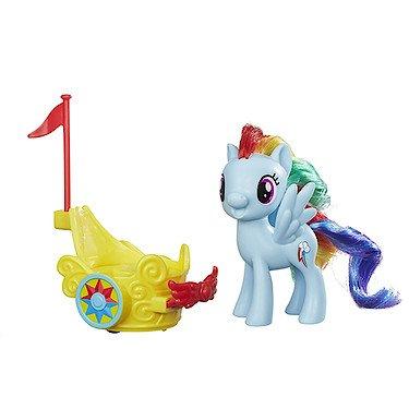 My Little Pony - Königlicher Gala-Wagen - Rainbow Dash Figur + Fahrzeug (My Watch Little Pony)