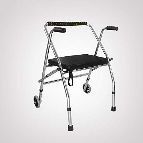 Bariatric Faltbare Rollstuhl (XUE Tragbare Gehhilfe für behinderte ältere Menschen Einstellbare, Faltbare, rutschfeste Fußauflage Gehhilfe für Rehabilitationsgeräte Bad Badstuhl)