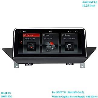 XISEDO-1025-Zoll-Bildschirm-Android-90-RAM-2G-ROM-32G-6-Core-Autoradio-Moniceiver-mit-GPS-Navi-Android-Radio-fr-BMW-X1-E842009-2015-Ohne-OriginalbildschirmVersorgen-mit-iDrive