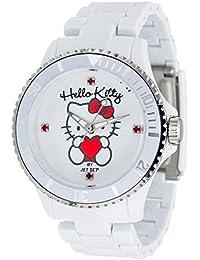 Hello Kitty Mädchen-Armbanduhr Obi White Analog Quarz Plastik JHK1004-18