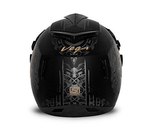 Vega Off Road Ranger OR-D/V-RGR-DKGL_M Full Face Graphic Helmet (Dull Black and Golden, M)