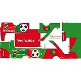 Stickers Adhesivos de Playmyplanet Fútbol Portugal Compatibles con Playmobil Bus 5106, 5025, 4419, 5603 Y 3169