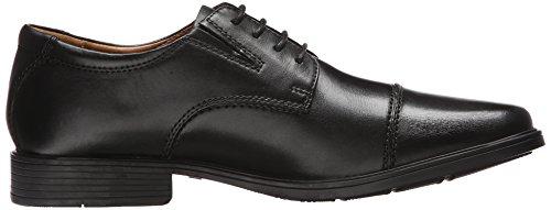 Clarks Tilden Cap Oxford Shoe Black Leather