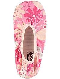 Slazenger Niños Canvas Gimnasio Textile Ligero Zapatillas Deporte Zapatos Rosa Estampado C10 (28)