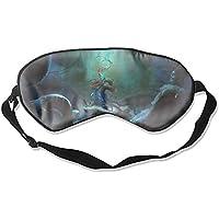 Schlafmaske, Fantasy Forest Seide, leicht, atmungsaktiv, bequem, weich, mit verstellbaren Kopfgurten für Frauen preisvergleich bei billige-tabletten.eu