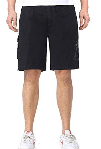 DQQ Herren Short Gr. L, Schwarz - Schwarz (3 Pocket-basketball-shorts)