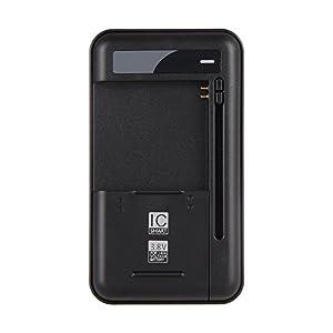 Onite Universal Akku Reise Ladegerät Schwarz für Smartphone Hochspannungsbatterie Akkus Samsung Galaxy S3/S4/Note 3 N9000/Note 2 N7100/S3 mini/S4 mini,LG Optimus G/G2/G3, Nokia/Motorola /HTC