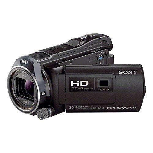 Sony HDR-PJ650VE HD Flash Camcorder (1920 x 1080 Pixel, G-Optik mit 12-fach Zoom, Projektor mit 20 Lumen, HDMI, 32GB Speicher) schwarz - Hdr 20 Sony