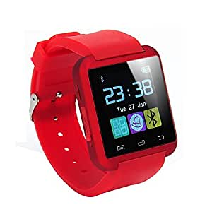sampi Samsung Galaxy S4 active I9295 Compatible Certified Bluetooth Smart Watch U8 Wrist Watch PhoneNew Arrival Best Selling Premium Quality Pedometer Sleep Monitor, Anti Lost Feature Touch Screen, Music Playing