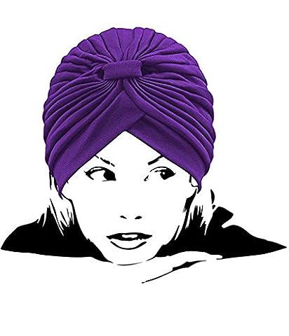 I VVEEL Women's Pleated Head Wrap Knit Bonnet Turban