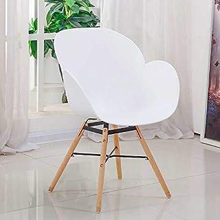 Pharao24 Armlehnstuhl in Weiß Kunststoff Massivholzgestell 4er Set