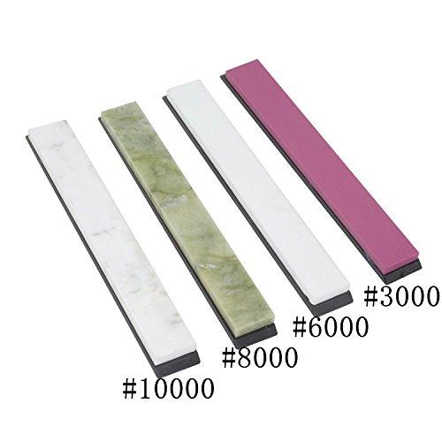 Wetzstein-Set, Messerschärfsteine, Ölsteinschärfer mit Sockel, ca. 15x2x0,5cm,