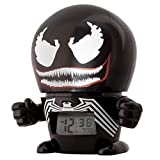 BulbBotz Marvel 2021715 Venom Kids Night Light Alarm Clock with Characterised Sound | black/red | plastic | 5.5 inches tall | LCD display | boy girl | official
