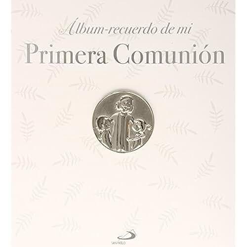 ideas regalos para comuniones kawaii Álbum Recuerdo De Mi Primera Comunión. Modelo B. Con Incrustaciones Plateadas En Relieve (Primeras Comuniones)