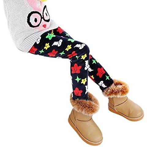 Muchachas De Los Niños De Los Pantalones,RETUROM Moda CÁLida Invierno De Las Muchachas De Las Polainas Caliente Grueso De La Cintura ElÁStico Legging Pantalones