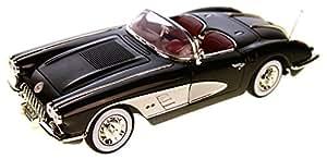 Chevrolet Corvette C1 , noire/argenté, 1958, voiture miniature, Miniature déjà montée, Motormax 1:18