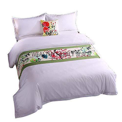 chal Ursprüngliche Klassische Ausstellungshalle Bettbezug Pad Flagge, 1.5M Bett 50X210cm, Tinte weiß ()