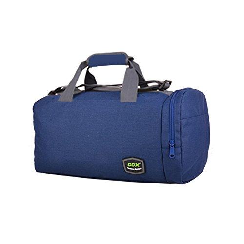 GOX Sport-Sporttasche mit Schuhbeutel Multifunktions-Umhängetasche Sport Reise Duffel Über Nacht ausdrücken Weekender Tasche Handgepäck Für Männer und Frauen Navy blau