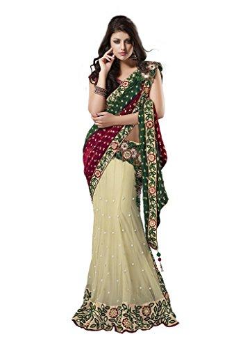 Mahotsav Women's Net , Bemberg Shiffon Jacquard Art Silk One Minute Sarees ( 2513 )  available at amazon for Rs.2220
